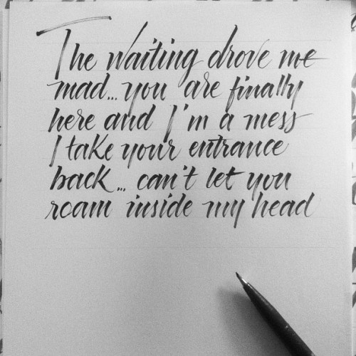 @pearljam #calligraphy #pearljam #letters #typography (Taken with Instagram)