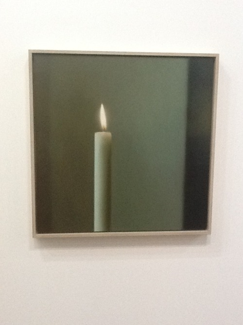 Sonic tooth? Painting by Gerhard Richter at the retrospective exhibition in Paris, Musée Pompidou, September 2012.