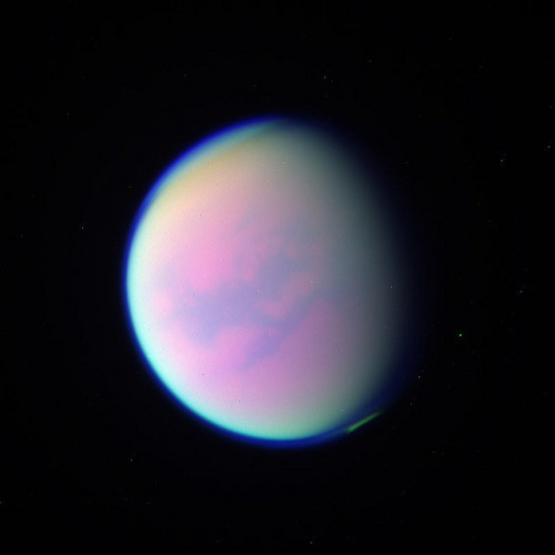 iliveinaspiralgalaxy:  Gibbous Titan by Val Klavans on Flickr.