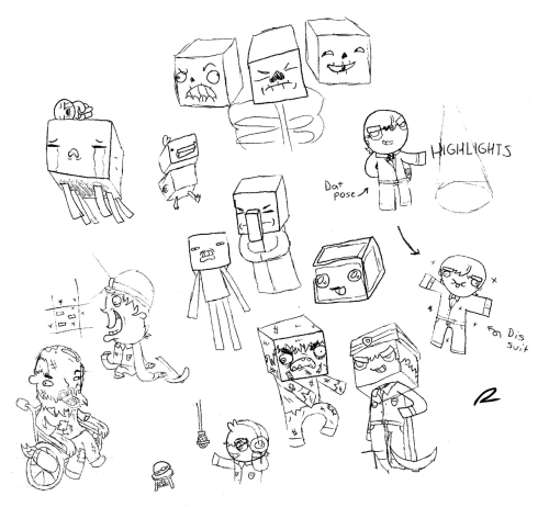 New sketches for TheGamersCave. These include concepts from Minecraft, Happy Wheels, Highlight Videos and News/Commentary Sections. TheGamersCave Channel.