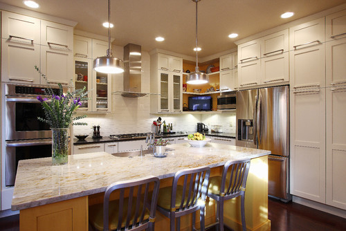 georgianadesign:   DC townhouse kitchen by NVS Remodeling & Design.