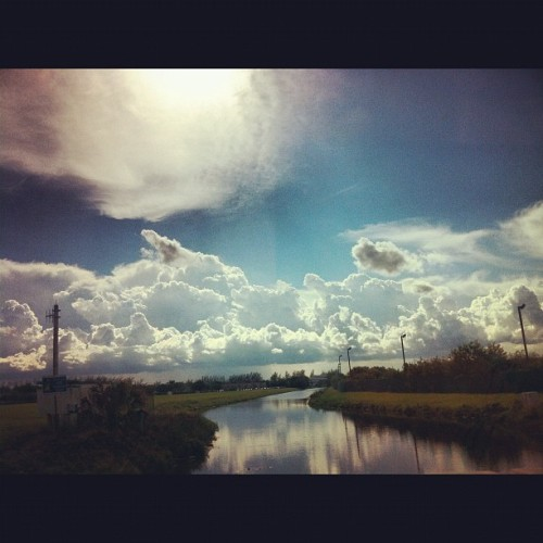 This one too >  #clouds #beauty #beautiful #skyline #photography #loveit  #river  (Taken with Instagram)