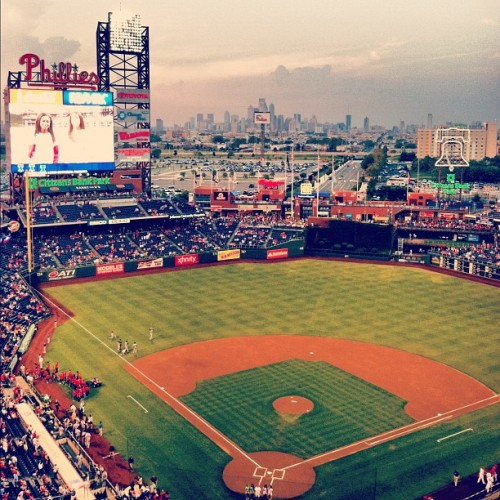 First Phils game since early June. #baseball #phillies  (Taken with Instagram at Citizens Bank Park)
