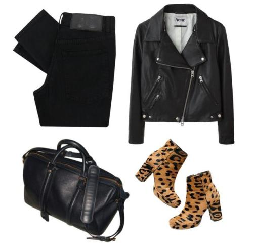 what-do-i-wear: Acne Rita Leather Jacket Cheap Mondaytight V Stretch Black Skinny Jeans SAC SC - VestiaireDeCopines Alexa Chung for Madewell Zowie Boots (image: venus-in-furs)