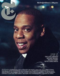 "Jay-Z, photographed by Cass Bird, for the September edition of ""T"" magazine, the NY Times style journal."