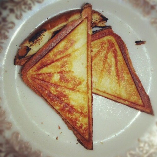 Grilled Gouda Sandwich #lovetriangles (Taken with Instagram)