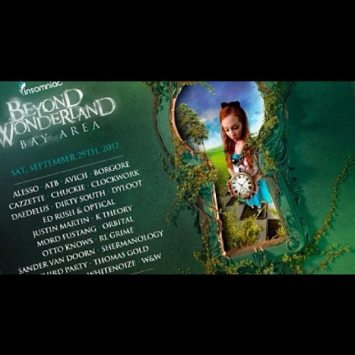 #beyondwonderland #insomniac #lineup #rave #party #kandi #dance #plur #pease #love #unity #respect  (Taken with Instagram)