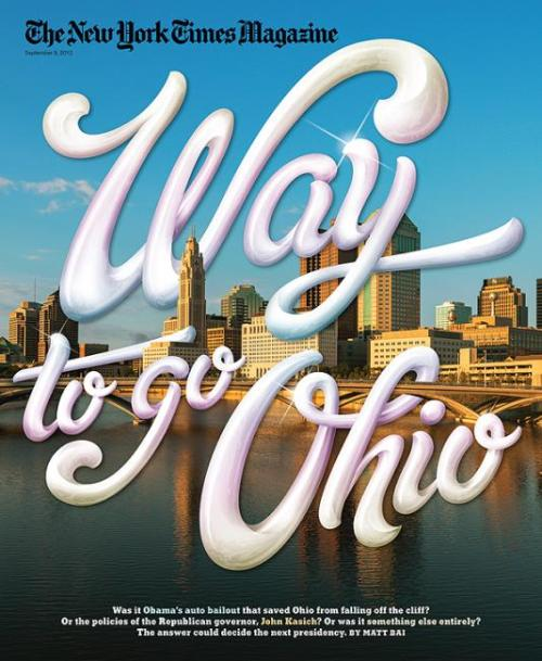 Way to go Ohio… The New York Times Magazine cover about Ohio.