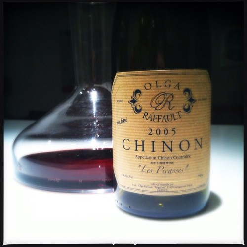 Raffault '05 Chinon Les Picasses — opening up nicely tonight. #wine.