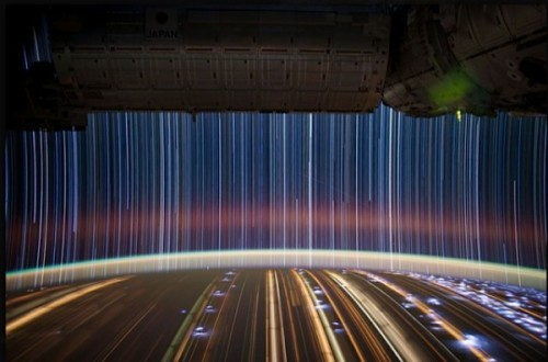 loveallthis:  Long-exposure photo taken by Don Pettit from aboard the ISS.
