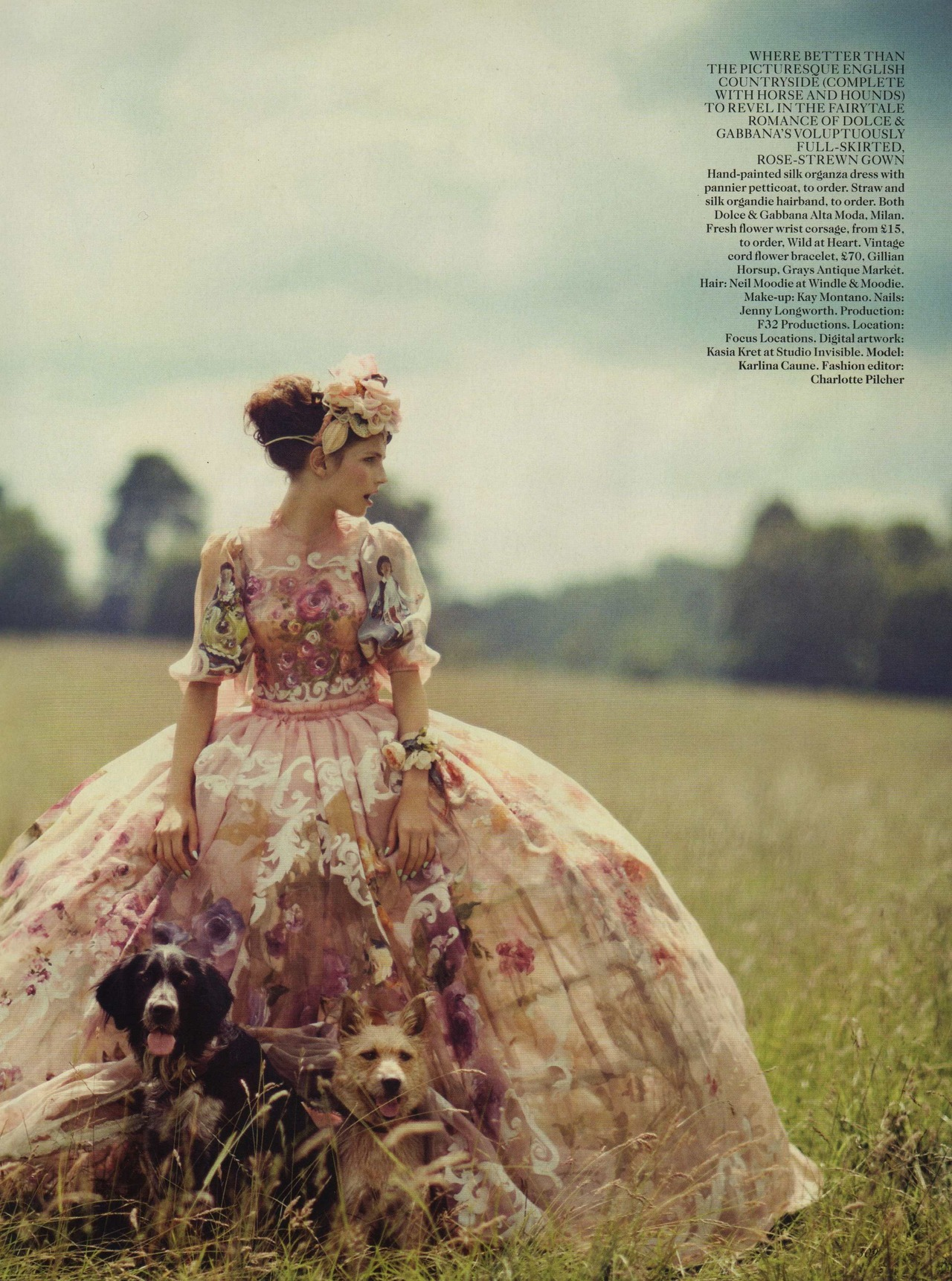 Karlina Caune - Vogue UK by Boo George, October 2012