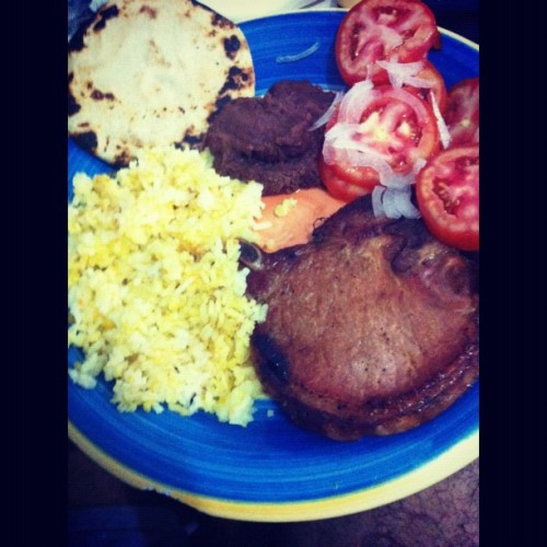 #dinner to watch the #soccer match #selecta :D (Taken with Instagram)