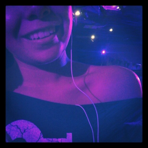 #lights make #me #smile #self #portrait #pink #purple #platinumspot5r #gobo   (Taken with Instagram)