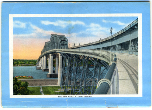 "defendneworleans:  ""The New Huey P. Long Bridge""  AKA The Most Terrifying Bridge to Drive Over in America"
