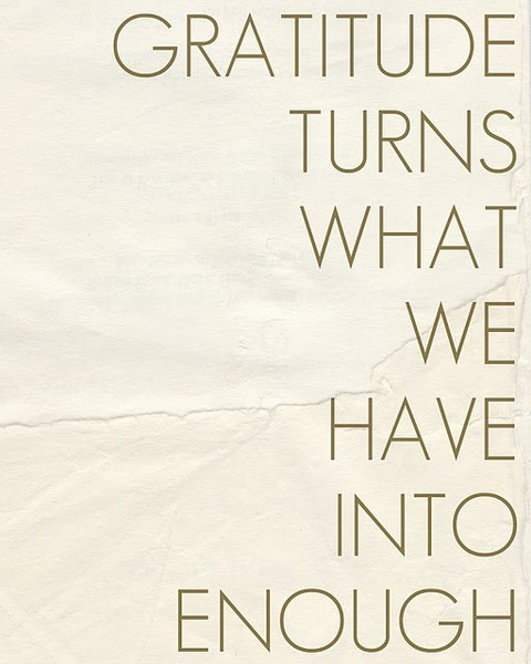 #PinterestQuoteFind: Gratitude turns what we have into enough. #photo