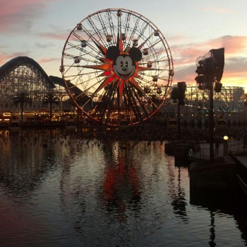 sunset at California Adventure. #nofilter #disneyland #pretty #きれい  (Taken with Instagram)