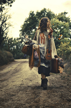 This reminds me of my sister. She's a gypsy at heart.