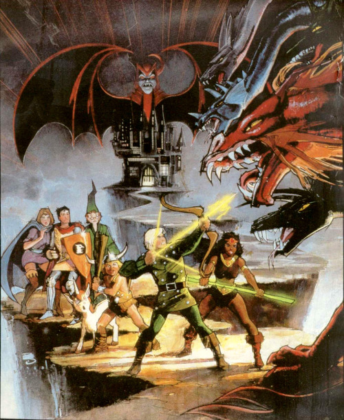 zackules:  Original Dungeons & Dragons cartoon series art by Bill Sienkiewicz. Courtesy of Monster Brains.