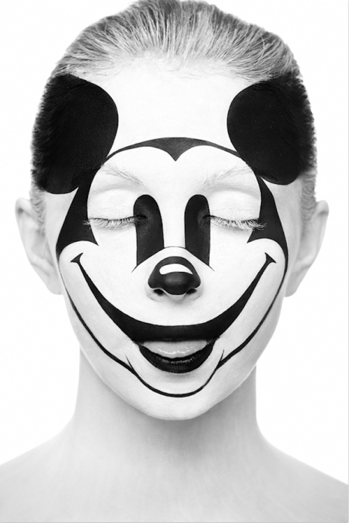 Striking Black and White Portraits of Art Painted on Faces by Alexander Khokhlov