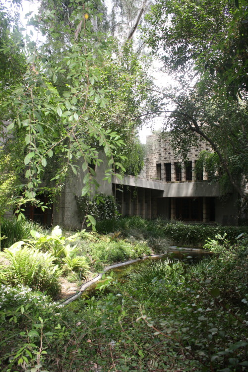 Frank Lloyd Wright's Millard house (1923), Pasadena, California