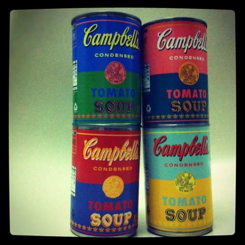 Andy Warhol limited edition Campbell's soup cans. Awesome. (Taken with Instagram)