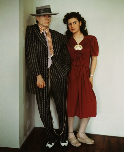 collective-history:  Andy Warhol & Paloma Picasso by Jean-Paul Goude, 1975