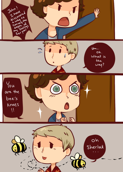 imjohnlocked:  ineffableboyfriends:  Sherlock sure knows how to smooth talk a man.  I love this artist so much, it hurts :3