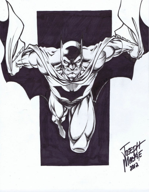 Batman Sketch by Joseph Mackie  http://www.comicbookquest.com/shop/batman-by-joseph-mackie/