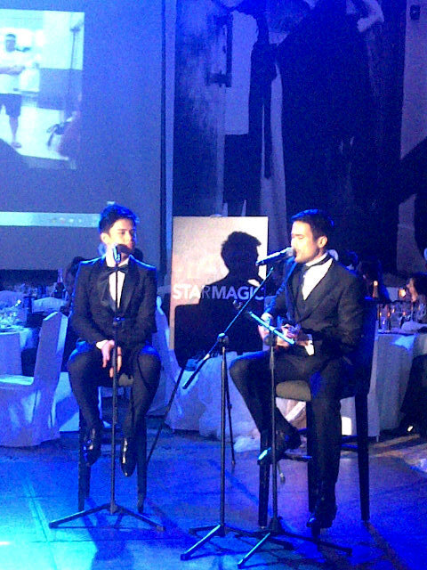 "Sam and Khalil Ramos performing ""Somewhere Over the Rainbow"" at the Star Magic Ball"