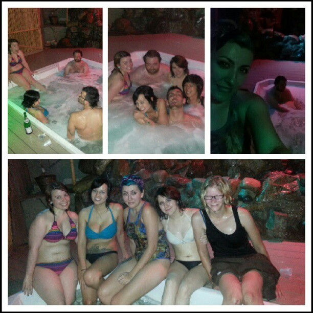 @kokoneeko surprise birthday party!!! Hot tub party ftw~ HAPPY BIRTHDAY KRISTINA!!!! (Taken with Instagram)