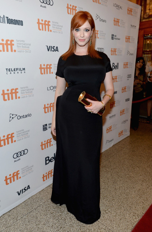 bohemea:  Christina Hendricks - Ginger and Rosa premiere at the TIFF, September 7th 2012 Our Titian Queen!