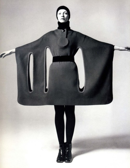 atomsandsteel:  Cardin dress. Obviously.