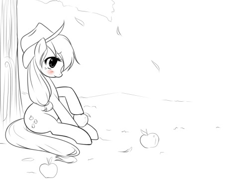 applejack! old doodle paint to your liking!, I see it finished! ^3^