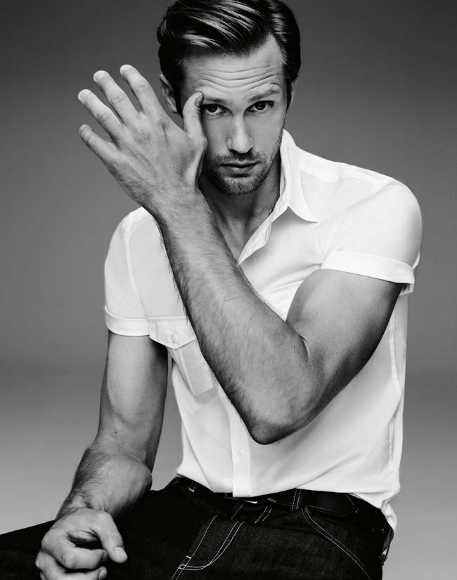 Alexander Skarsgard - GQ Australia by Steven Pan, 2012 Skarsy's hands are beautiful gigantasaurs!