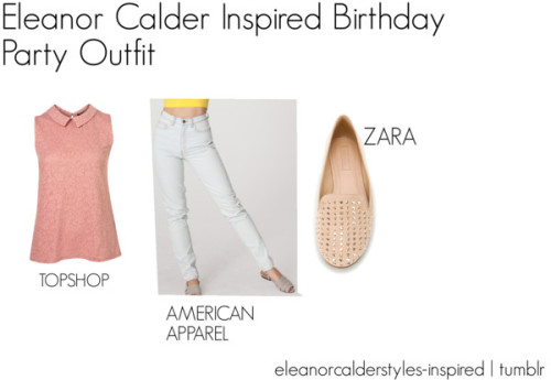 Eleanor Calder Inspired Birthday Party Outfit by eleanorcalderstyles-inspired featuring zipper jeans