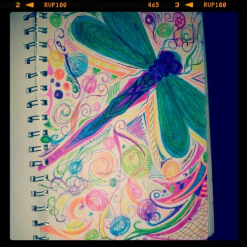 #dragonfly #drawing by me.. Late 2011/early 2012 - not sure (Taken with Instagram)