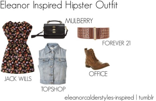 Eleanor Inspired Hipster Outfit by eleanorcalderstyles-inspired featuring topshop