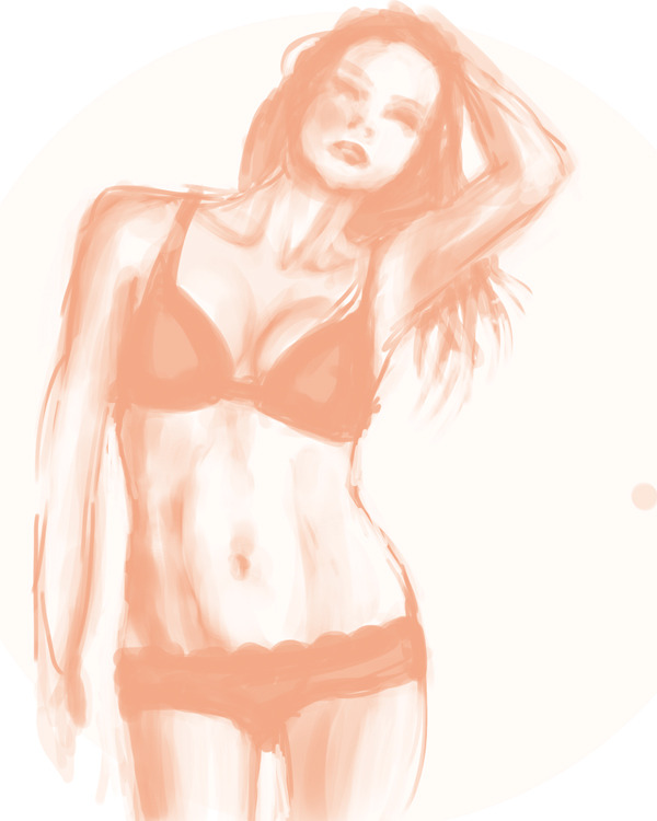 Can't sleep.  End result: half-naked women. Reference used.
