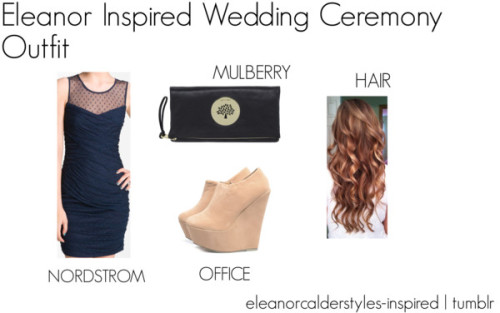 Eleanor Inspired Wedding Ceremony Outfit by eleanorcalderstyles-inspired featuring suede wedge booties