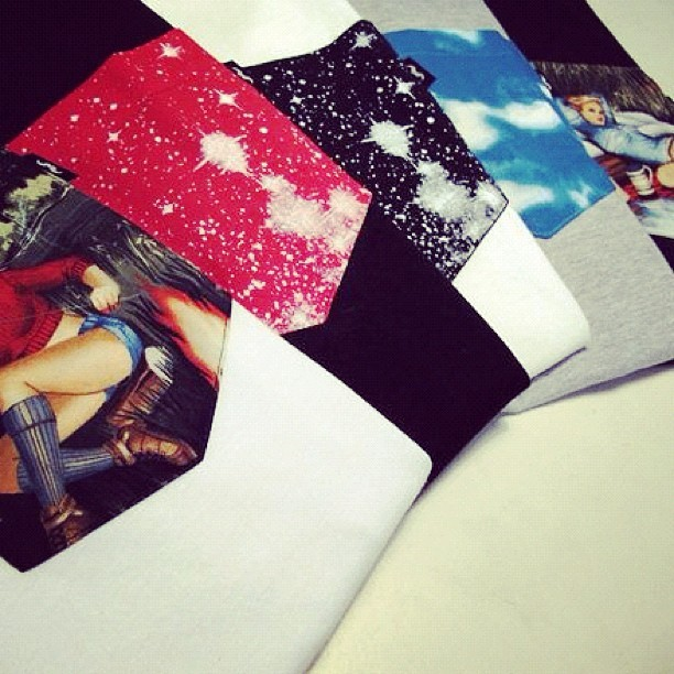 Quiet Life pocket t's #thequietlife #autumn12 #pockett #girls #cosmos #quietlife #clouds #menswear #vintagefabric (Taken with Instagram)