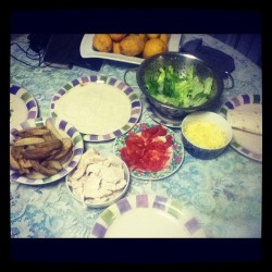 My dinner ! :) #yummy #tortillas (Taken with Instagram at Paige's ! )