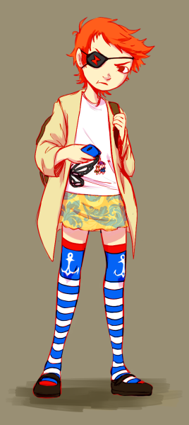 airred:  Draw a character you like in the clothes you wore today! idk man my outfits aren't usually this ugly