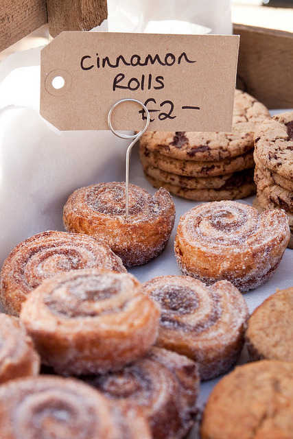 Cinnamon Rolls from eddibles bakery on Flickr.Eddibles Bakery at Maltby Street market