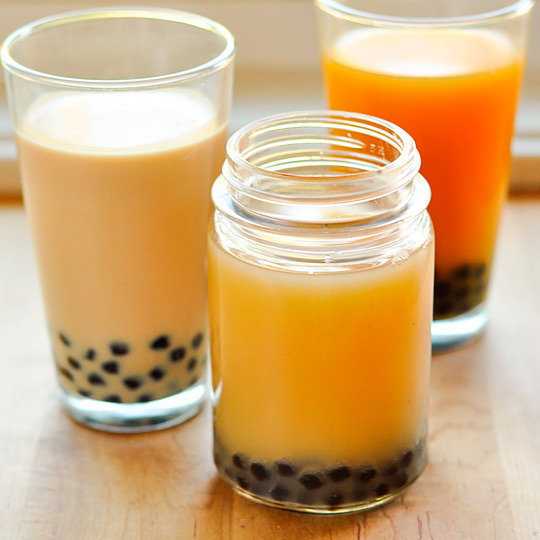 Boba & Bubble Tea | The Kitchn If you've never had bubble tea, you have to try it! It's like a sweet, milky tea that you can find at some Asian restaurants (in Adelaide there's a Bubble Tea shop downstairs of the Myer Centre in the City!) If you want to try it but can't find it from stores or you love it and want to have it whenever you want, this is a great recipe from The Kitchn. Have fun!