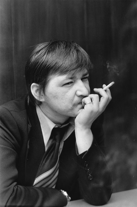 Fassbinder smoking.