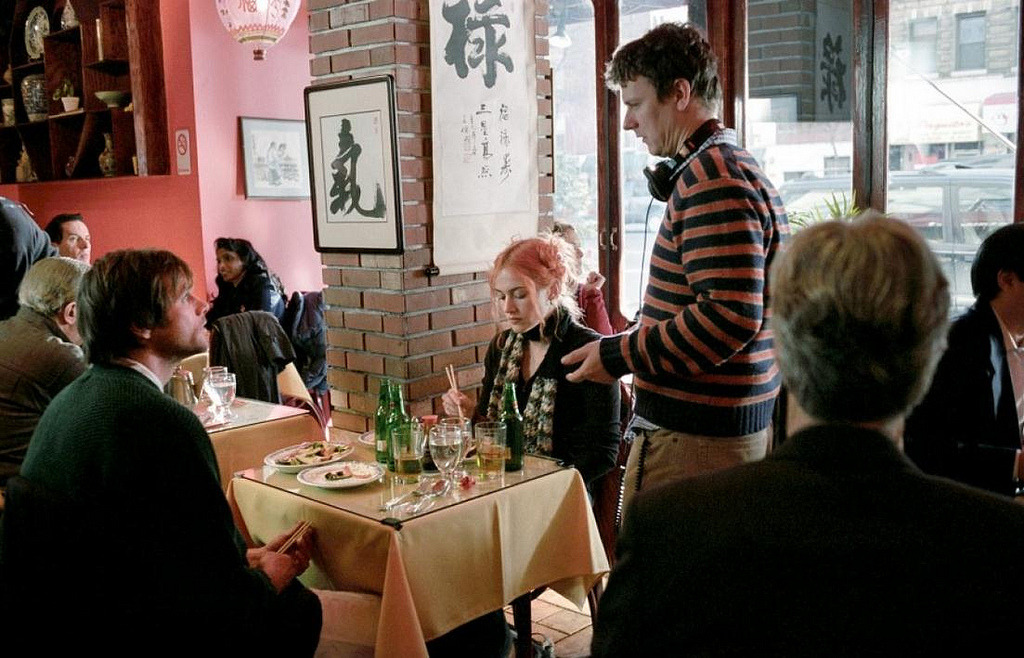 Kate Winslet, Jim Carrey & Michel Gondry - On the set of Eternal Sunshine of the Spotless Mind