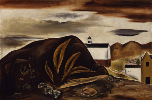 Yasuo Kuniyoshi, Landscape, 1924. Oil on canvas.