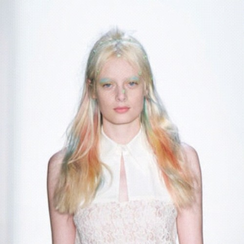 Rainbow sherbet for spring 2013 @peter_som @thewallgroup @WellaHairUSA #pastelrainbow #dream #haircolor #Wella #hairflair #paintedbyme #auracolorist (Taken with Instagram)