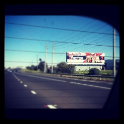 driving home from the doctors on Friday and I see this :) #onedirection #xfactor  (Taken with Instagram)