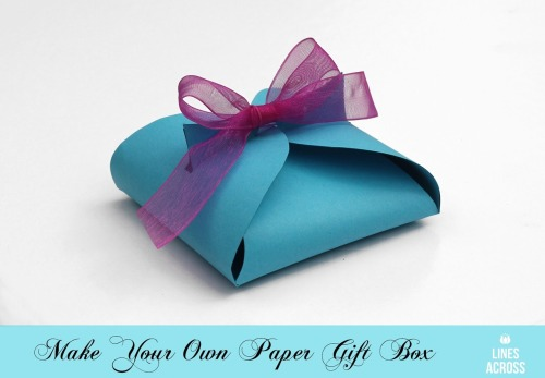 prettylittlepieces:  Simple DIY Paper Gift Box